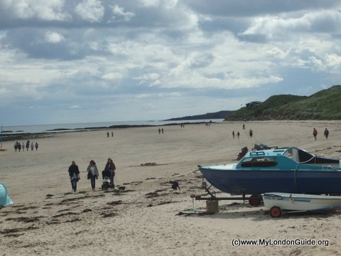 Northumberland Coast Beach at Seahouses