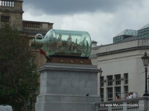 Ship in a Bottle Trafalgar Square
