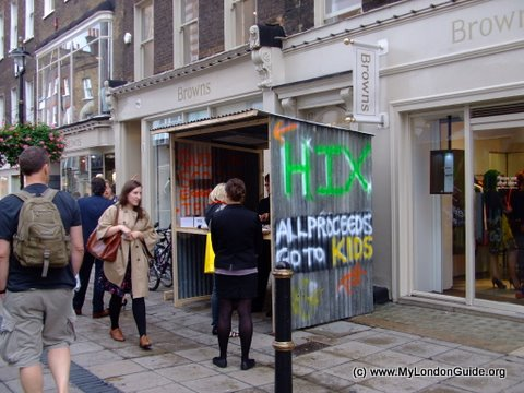 Browns South Molton Street - Hix stand