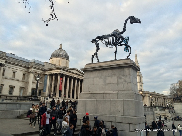 The fourth plinth Trafalgar Square 2015