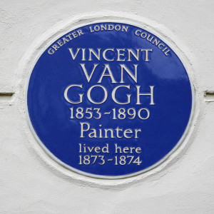 Blue plaque for Vincent Van Gogh at 87 Hackford Road, Stockwell, London