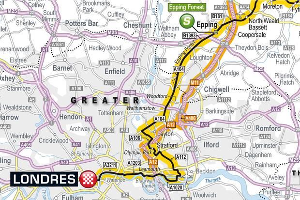 tour de france London map