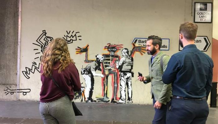 Banksy's homage to Jean Michel Basquiat with 2 new pieces at the Barbican Centre