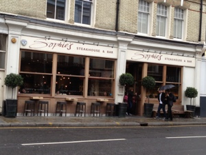 Sophie's Steakhouse Fulham Road