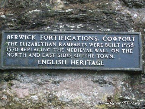 Northumberland Coast  Berwick Upon Tweed Rampart Walls