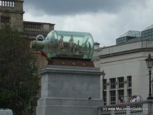 Ship in a Bottle Trafalgar Square