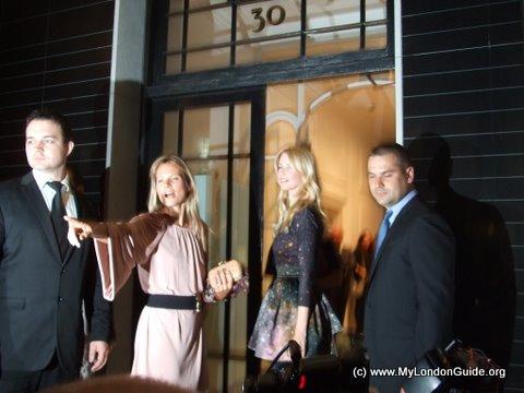 Claudia Schiffer at Stella McCartney's shop