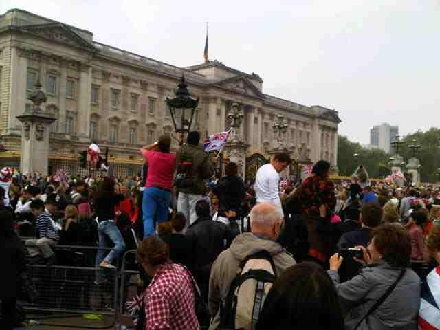 Storming of the gates Royal Wedding