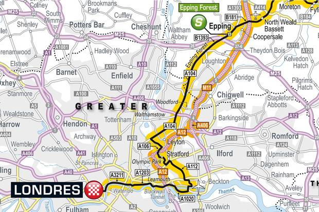 tour de france London map